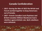 canada confederation