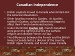 canadian independence