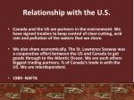 relationship with the u s