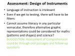 assessment design of instruments