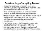 constructing a sampling frame