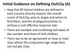 initial guidance on defining oos15y a