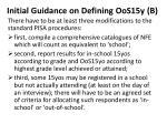 initial guidance on defining oos15y b