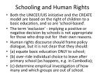 schooling and human rights