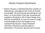 doctor faustus summary