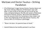 marlowe and doctor faustus striking parallelism