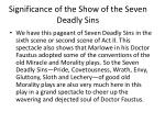 significance of the show of the seven deadly sins