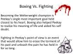 boxing vs fighting