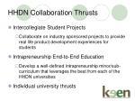 hhdn collaboration thrusts