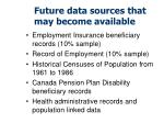 future data sources that may become available