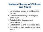 national survey of children and youth