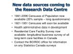 new data sources coming to the research data centre