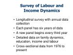survey of labour and income dynamics