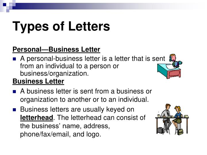 PPT Types of Letters PowerPoint Presentation ID1651173