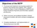 objectives of the bstp