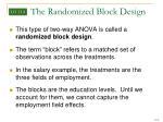 the randomized block design