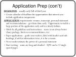application prep con t