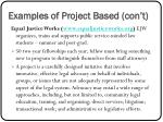 examples of project based con t