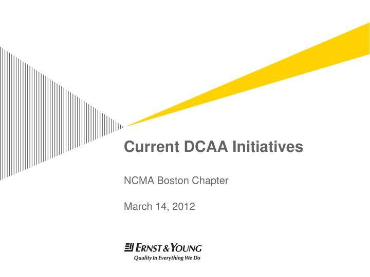 current dcaa initiatives n.