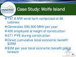 case study wolfe island
