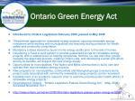 ontario green energy act