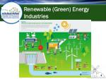 renewable green energy industries