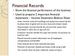 financial records