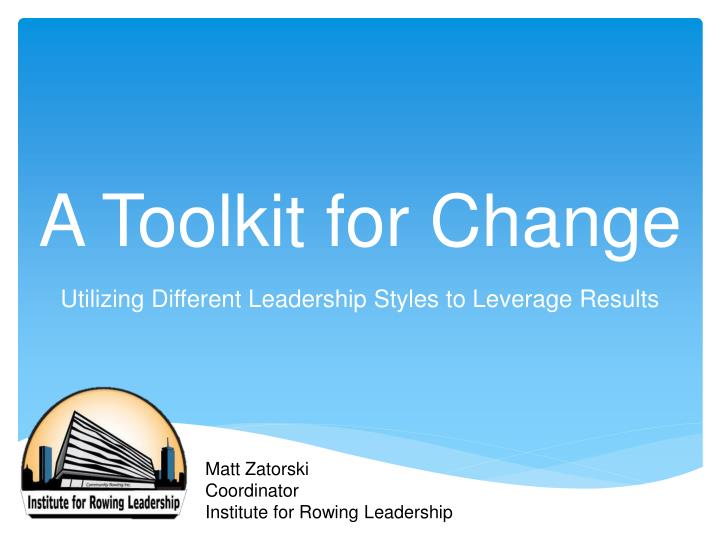 a toolkit for change n.
