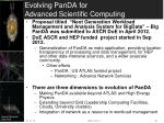 evolving panda for advanced scientific computing