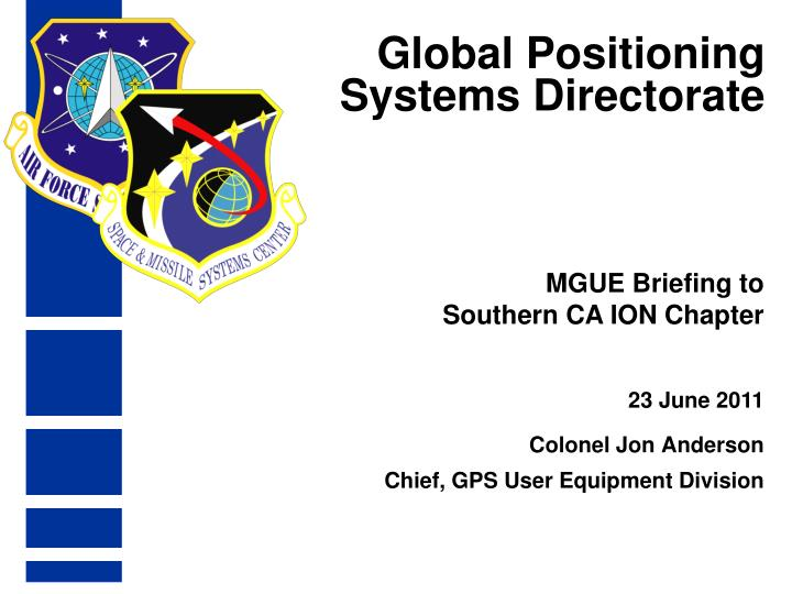 global positioning systems directorate n.