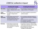 csm for collective impact