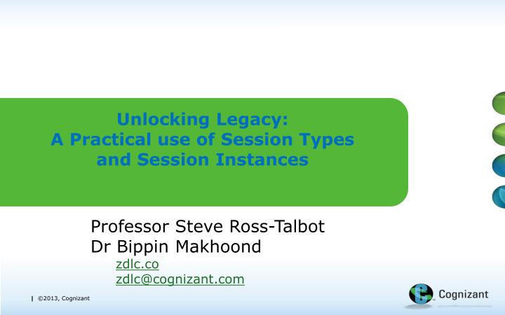 unlocking legacy a practical use of session types and session instances n.