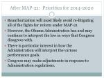 after map 21 priorities for 2014 2020