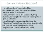 american highways background
