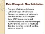 main changes in new solicitation