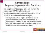 compensation proposed implementation decisions