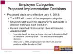 employee categories proposed implementation decisions1