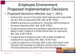 employee environment proposed implementation decisions