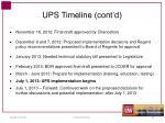 ups timeline cont d