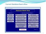 current database back office