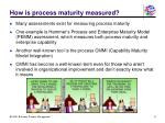 how is process maturity measured
