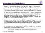 moving up in cmmi levels