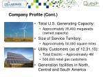 company profile cont