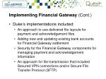 implementing financial gateway cont