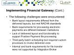 implementing financial gateway cont1