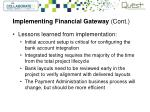 implementing financial gateway cont3