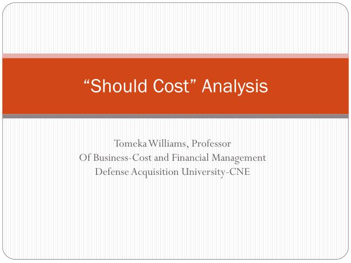 should cost analysis n.