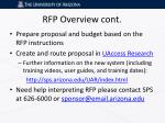 rfp overview cont