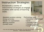instruction strategies
