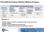 faa ang c6 aviation weather metrics program